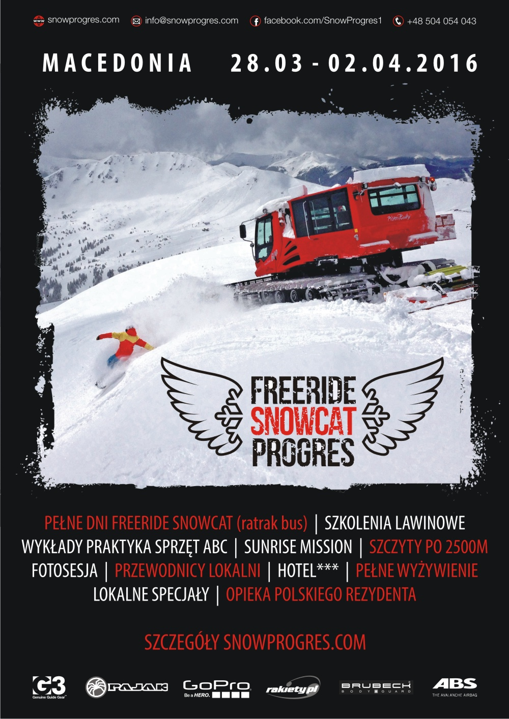 plakat snow cat_ sq